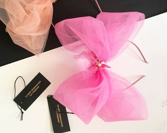 Enchanted Collection. Tulle Bow in Pink.