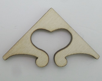 Wooden Corners - set of 4 pieces - Embellishments for journals, notebooks, diaries, sketchbooks COR003