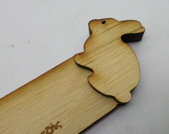 Wood Bookmark Invitation - Rabbit