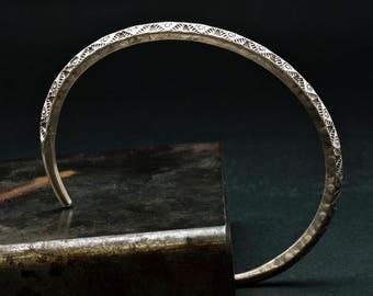 Sterling Silver Cuff Bracelet, Men/Women Stacking Bracelet, Silver Bangle, Men's Jewelry, Men's Gift Simple Cuff Bracelet, Unisex Jewelry