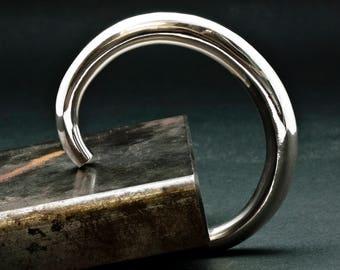 Sterling Silver Cuff Bracelet, Unisex Chunky Bracelet, Thick Cuff Bracelet, Men/Women Simple Bracelet, Minimalist Cuff, Unisex Jewelry