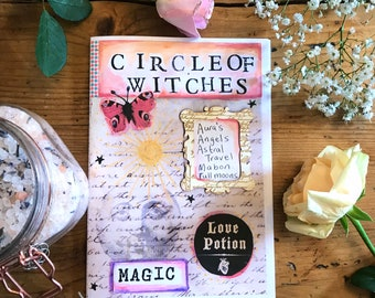 Circle of Witches issue 5 zine, folklore, herbal remedies, moon, plants, herstory, sabbats, spells, potions,