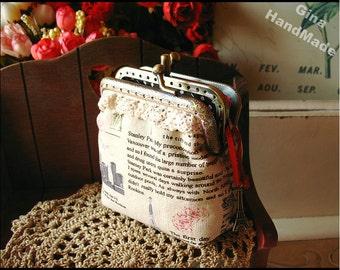 Travel in Paris Coin metal purse / Coin Wallet / Pouch coin purse / Kiss lock frame purse bag-GinaHandmade