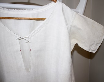 Antique French Chemise.  Linen Summer Dress . Suitable for Customisation. Cosplay Costume