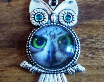 Gorgeous Owl Necklace in Owl Setting *Pick Your Own Design*