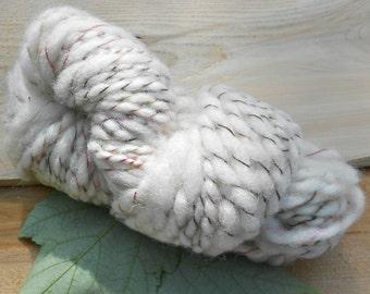 Handspun Undyed White Shetland Yarn: Snow Queen II