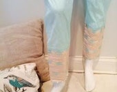 Light Aqua Blue Cotton La...