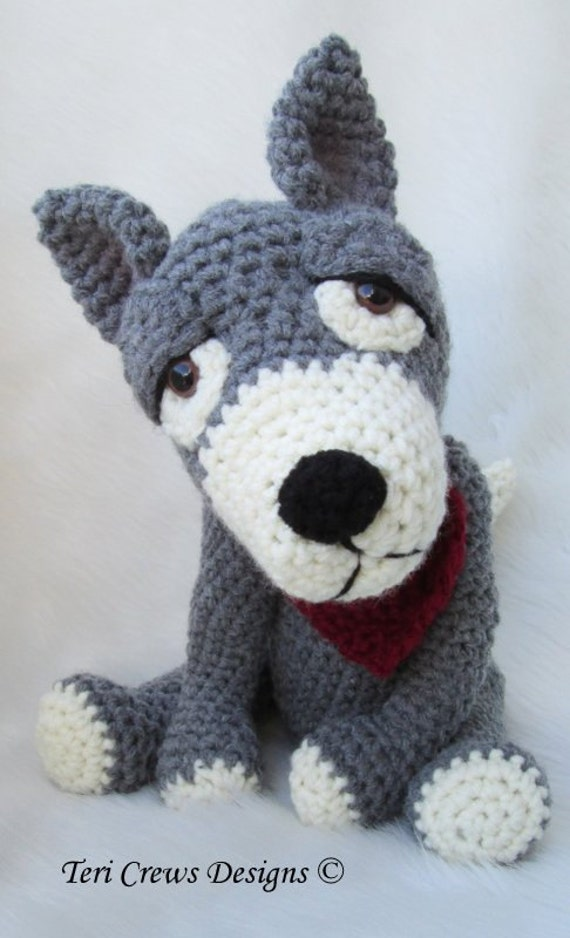 Crochet Pattern Wolf By Teri Crews Instant Download Pdf Format Etsy