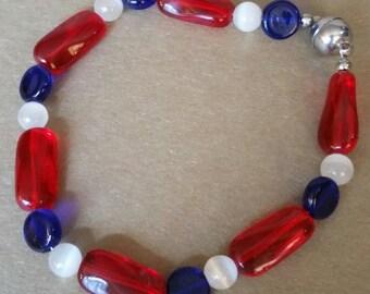 Red, White & Blue Bracelet