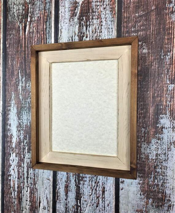 10 x 13 Rustic Picture Frame Cream Rustic Weathered Stacked | Etsy