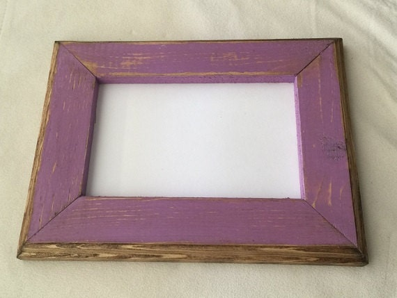 8 x 8 inch Picture Frame Purple Rustic Weathered Style With | Etsy
