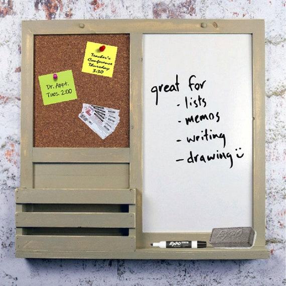 Khaki Dry Erase, Cork Board, Kitchen Organizer, Bulletin Board, Mail  Holder, Office Organizer, Message Board, Home Decor, Command Center
