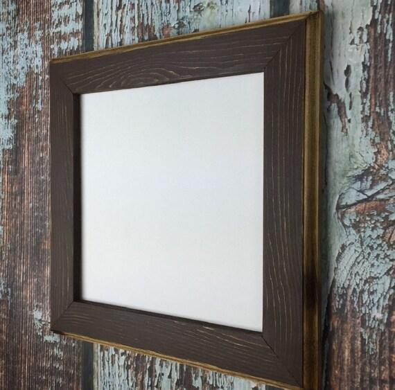 Marco de foto de 8 x 8 marrón rústico resistido con bordes de   Etsy