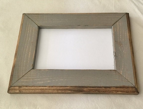 8 X 8 Picture Frame Gray Rustic Weathered Style With Routed Etsy
