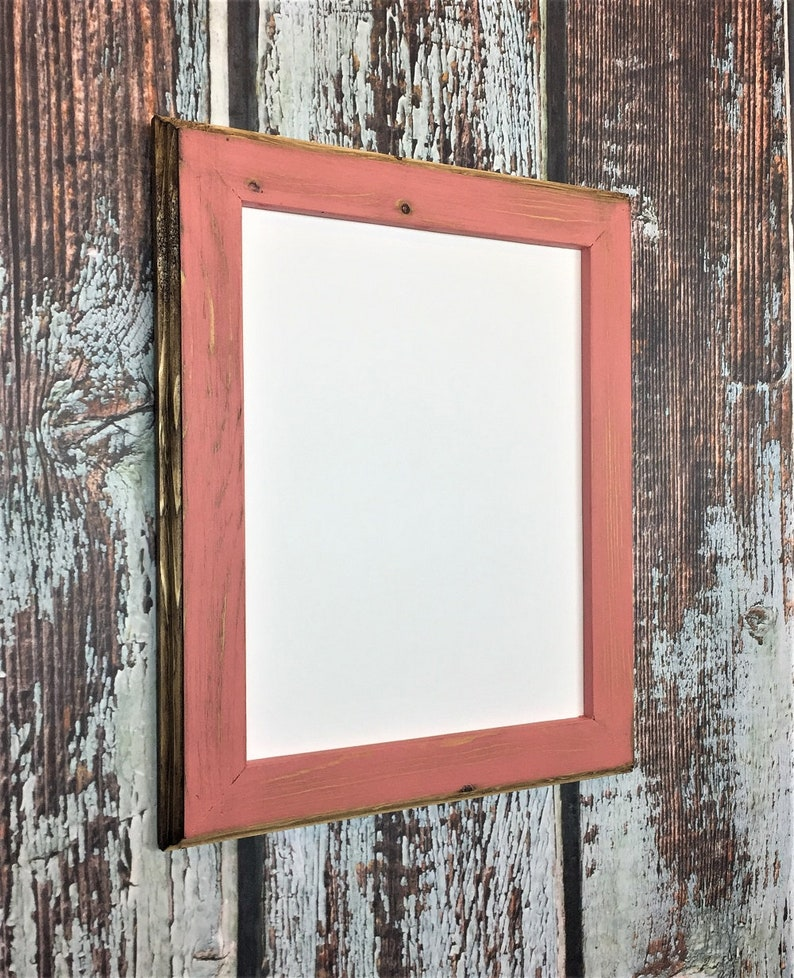 10 X 13 Coral Picture Frame Rustic Weathered Style With Etsy
