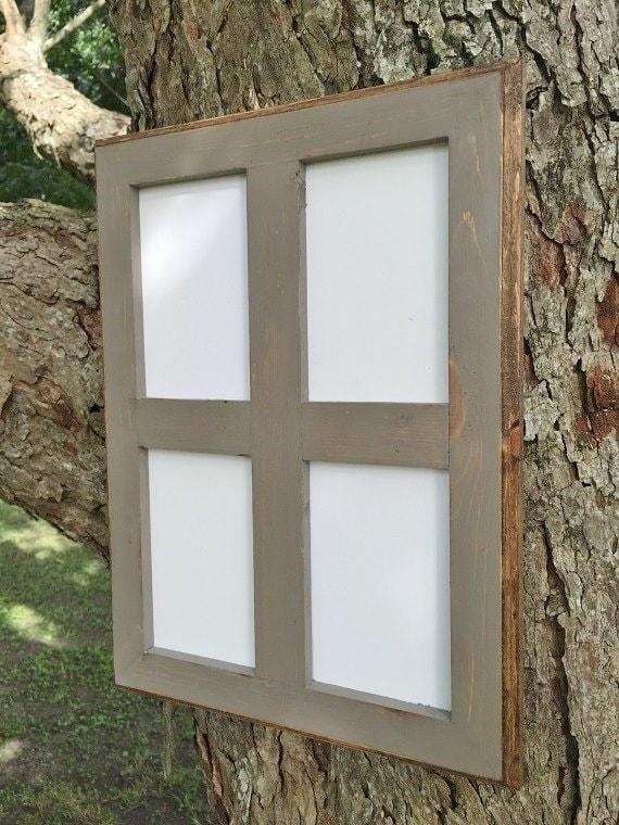 Marco 5 x 7 apertura multi rústico gris degradado con bordes | Etsy
