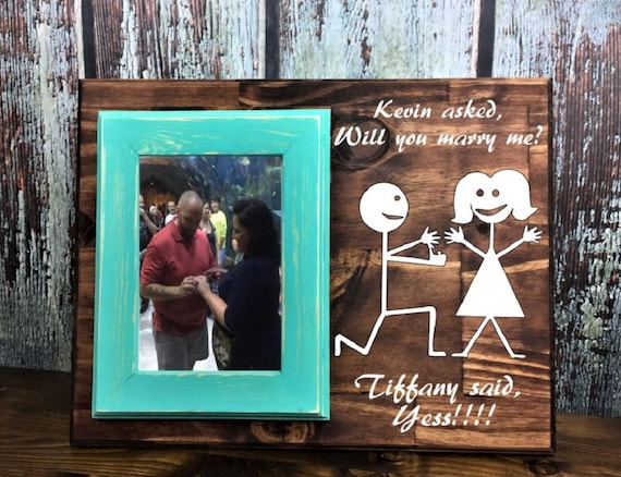 Will You Marry Me Personalized 4 X 6 Picture Frameplaque Etsy