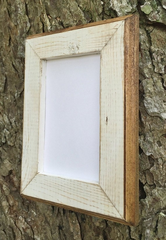 8 x 10 Picture Frame White Rustic Weathered With Routed | Etsy