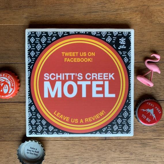 Schitts Creek drink coaster set