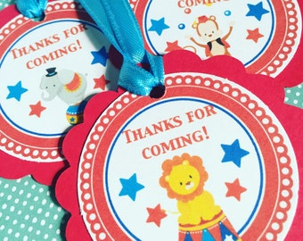 Circus Party Gift Tags, Set of 12