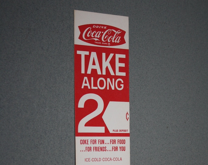 Vintage 1960 Coca Cola Carton Advertising Insert; NOS Coke Promotion