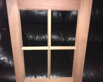 Vintage Unused Solid Cherry Cupboard Cabinet Door with Window