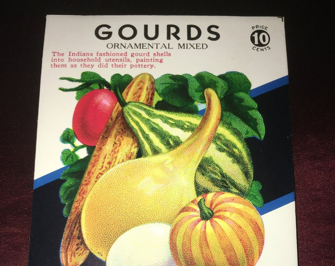 Vintage 10 Cent Gourds Seed Packet; Lone Star Seed Co.
