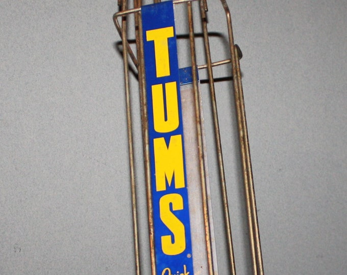 Vintage Tums Drug Store Display Dispenser; Old Stock, Never Used