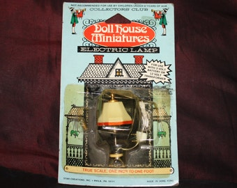 Vintage Collectors' Club Doll House Miniature Electric Lamp; 1970s NOS In Original Package