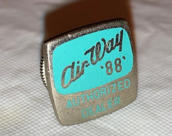 Vintage Original AIR-WAY '88 Vacuum Cleaner Authorized Dealer Lapel Pin 1950s, Unused Old Stock