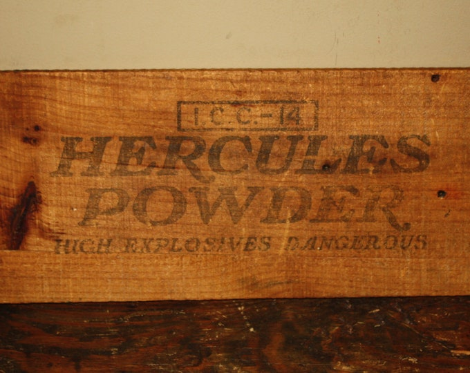 Antique Wooden Hercules Powder Explosives Sign