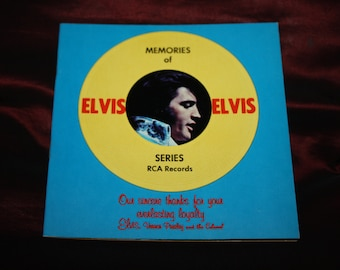 "Vintage ""Memories of Elvis"" Presley RCA Records Photo Album Promotional Booklet Catalog; New Old Stock"