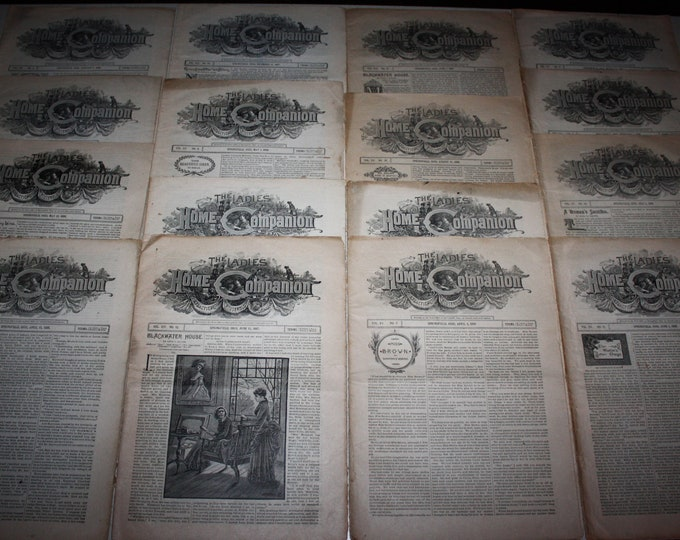 The Ladies Home Companion Magazine: Lot of 16 Issues from 1887-1888