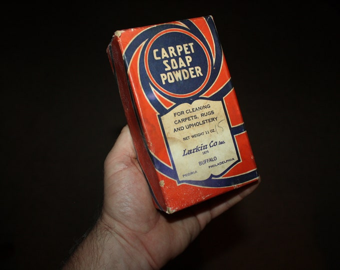 Larkin Co. Inc. Carpet Soap Powder: Buffalo, NY;  Vintage Advertising Box