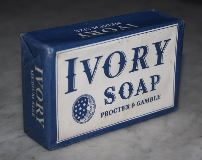 Vintage 1940 Ivory Soap Bar: Old Stock, Never Used, Excellent Condition!