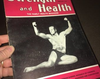 Feb., 1935 Strength and Health Magazine; Vintage Body Building, Muscle, Strong Man, Fitness