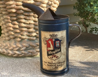 Vintage 1920s Maytag Multi-Motor Washer Fuel Mixing Can; Original Old Advertising Tin