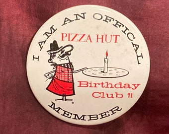 Vintage 1971 Pizza Hut Official Birthday Club Member Pin