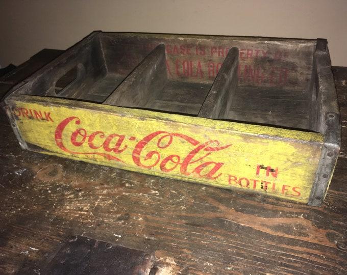 Antique Wooden Coca Cola Crate, Vintage Coke Bottle Carrier