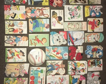 Lot of 38 Vintage Birthday Greeting Cards from the 50s & 60s