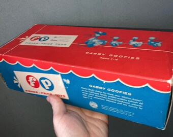 Vintage Fisher Price Box for Gabby Goofies Toy No. 776, 1960 - 1963, Box Only