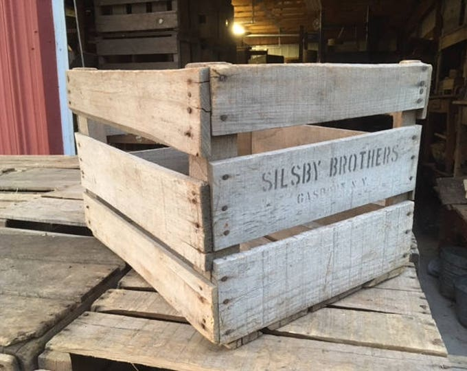 Antique Wooden Apple Orchard Crates; Vintage Slatted Wood Farm Boxes! Great to make organizers, bookcases, tables; Country Decor!