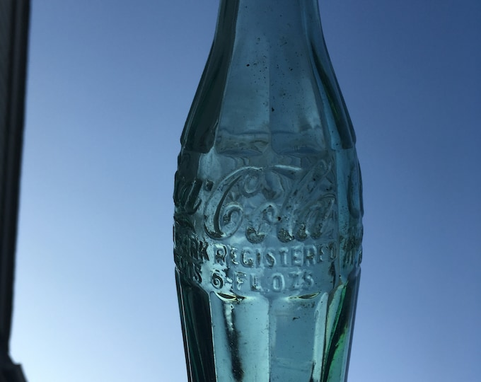 Vintage Green Glass Coca Cola Bottle; Antique Buffalo NY Coke Bottle