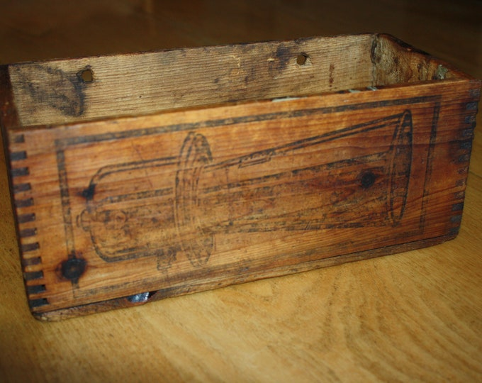 Antique Model T Klaxon Crate Car Horn Wood Box - Type 8 Automobile