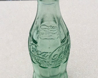Vintage 1940s  Green Glass Coca Cola Bottle; Antique Bradford, PA Coke Bottle