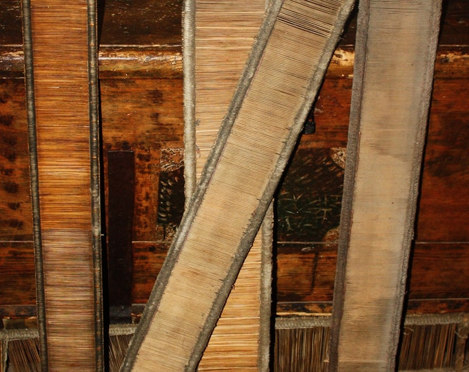 Lot of 5 Antique Wooden Weaving Loom Reeds! Primitive, Handmade, Eastern European, Awesome Decor and Reuse Possibilities!