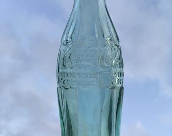 Vintage Green Glass Coca Cola Bottle; Antique New York NY Coke Bottle