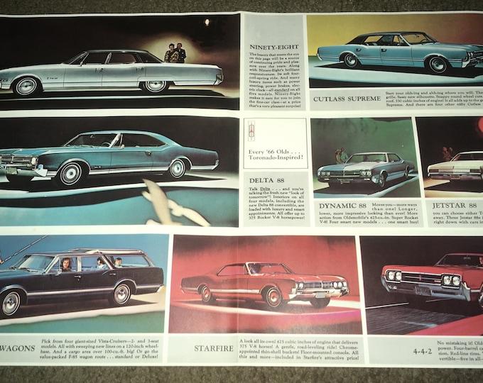 1966 Oldsmobile Dealer Promotional Sales Literature Photo Flyer Mailer, NOS