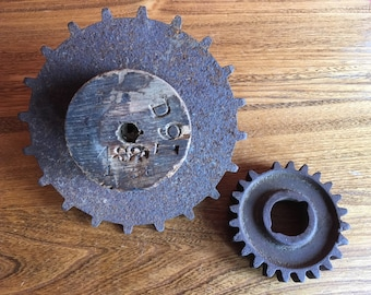 Antique Foundry Mold & Gear, Sprocket