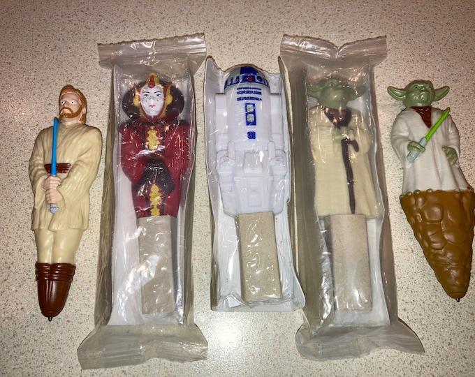 5 Star Wars Promotional Star Wars Character Pens: 2012-13 General Mills